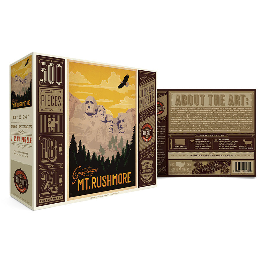 500 Piece Mt Rushmore Jigsaw Puzzle