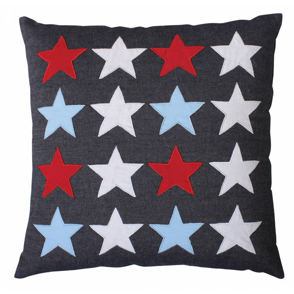 Multi-Star Denim Cushion