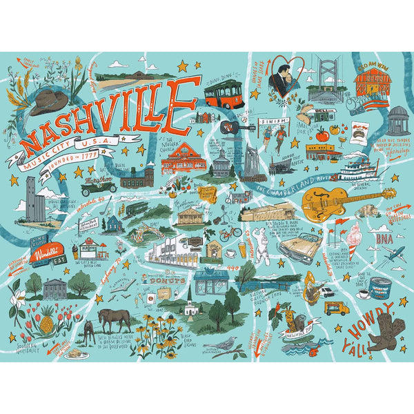 Nashville Illustrated Jigsaw Puzzle UK