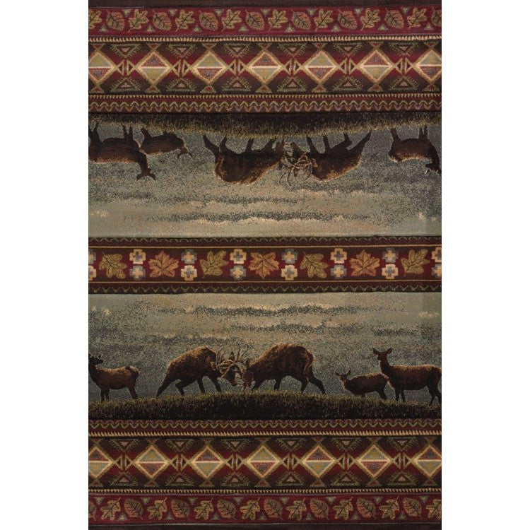 A Larger version of the Native Deer Rug
