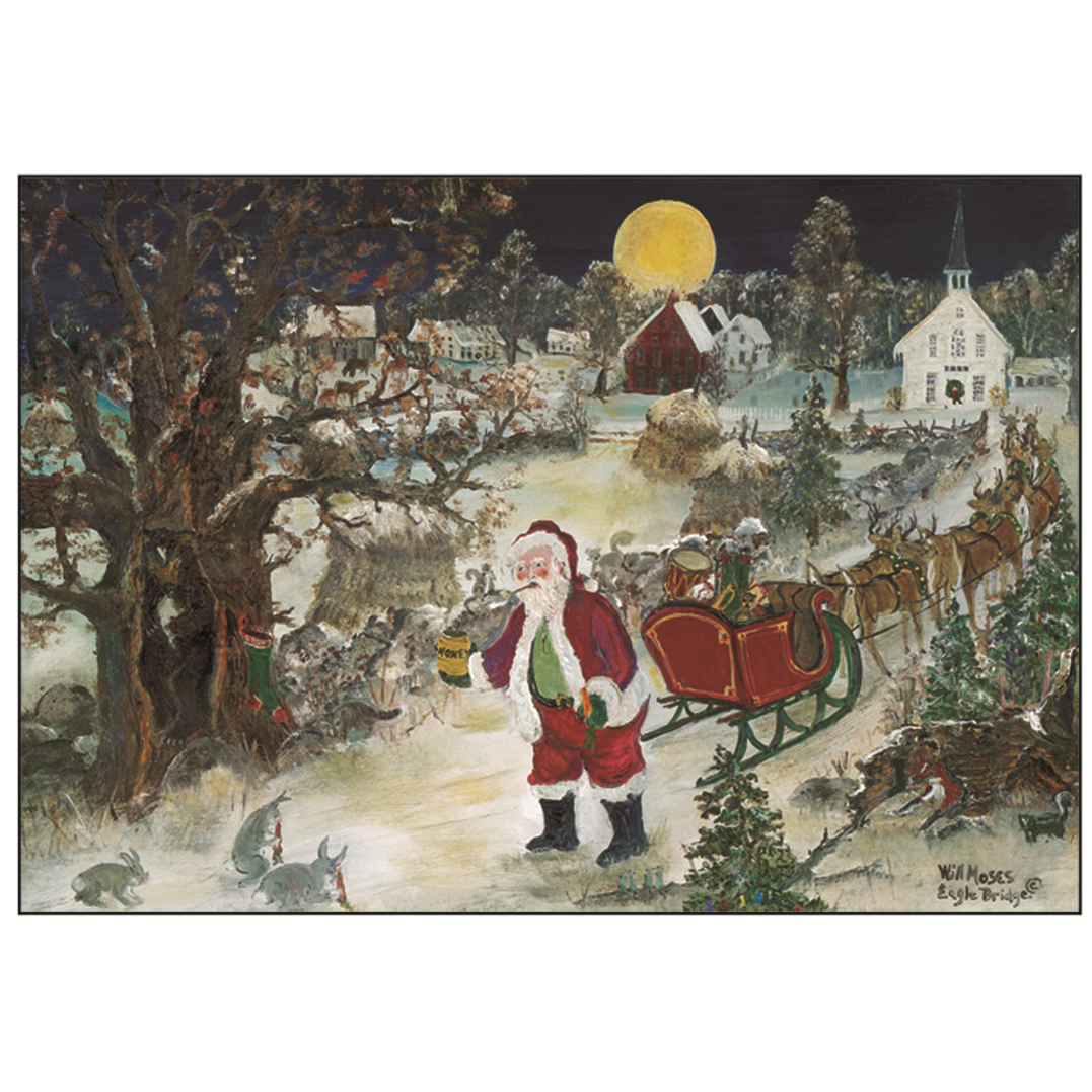 Will Moses Noel Christmas Cards Collection Box Of 24 Folk Art