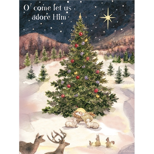 Lang Let us Adore Him Christmas Cards UK