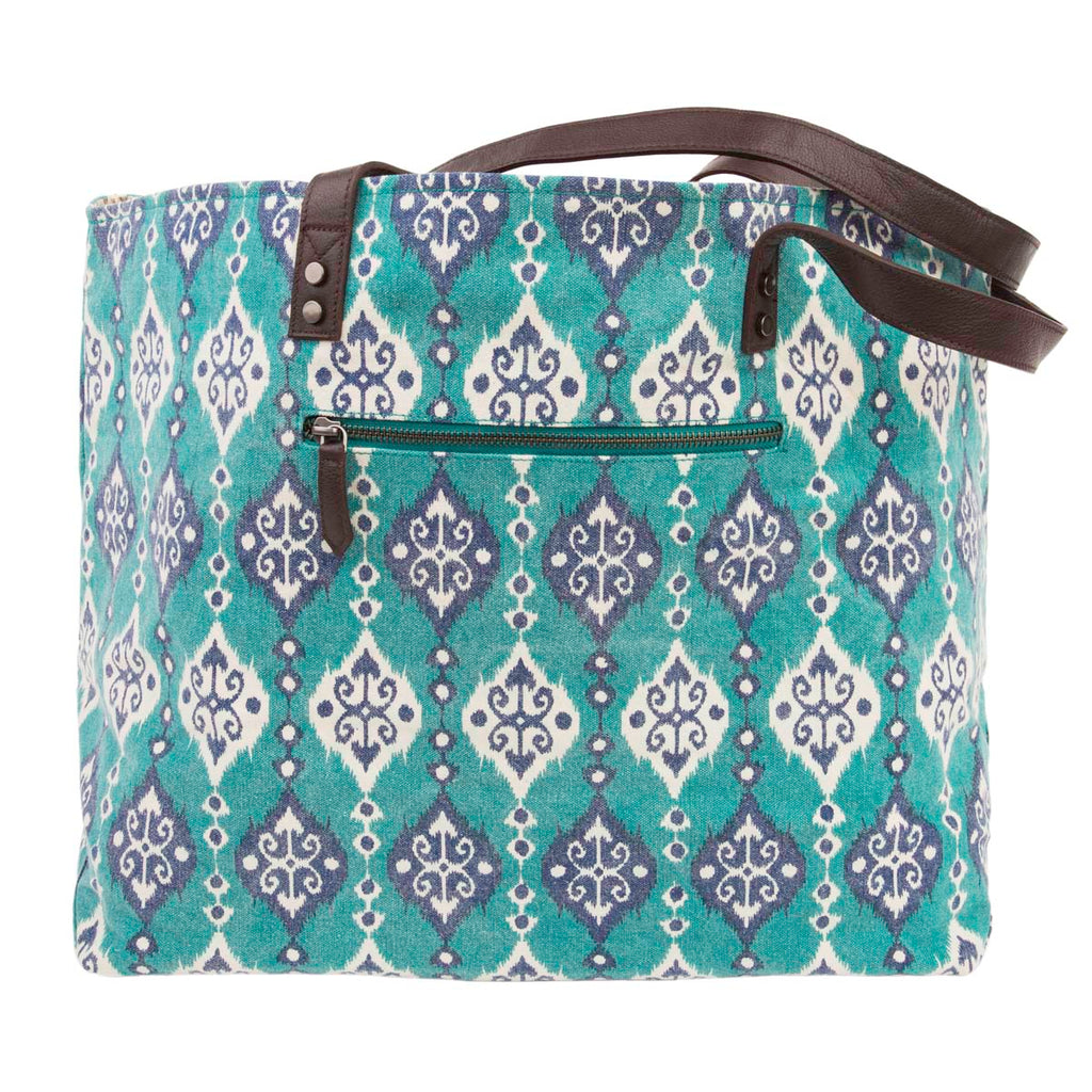 Lanai Wide Tote Bag with Pocket