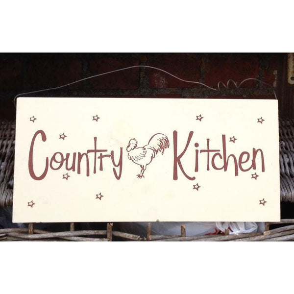 Country Kitchen Wooden Plaque
