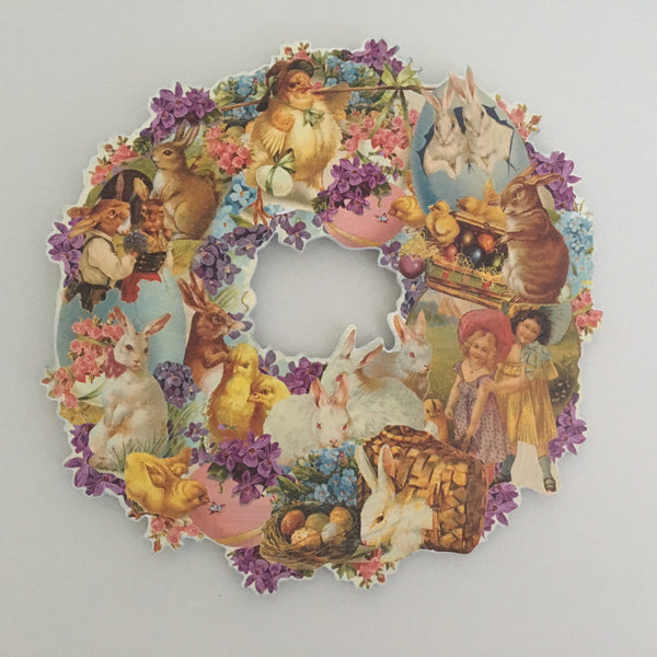 Vintage Style Easter Wreath