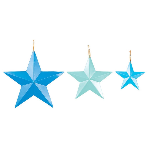 Set of Sea Glass Coloured Stars