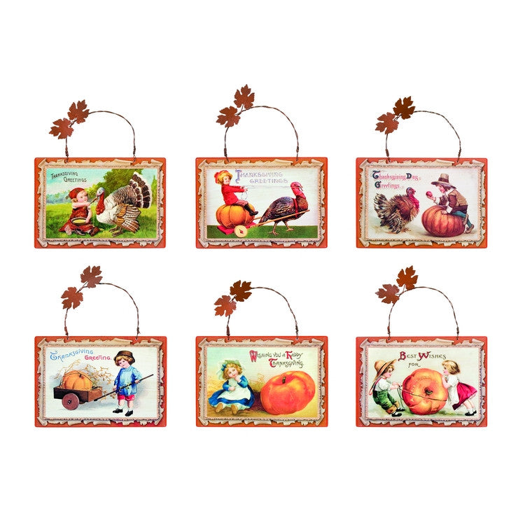 Vintage Style Thanksgiving Plaques