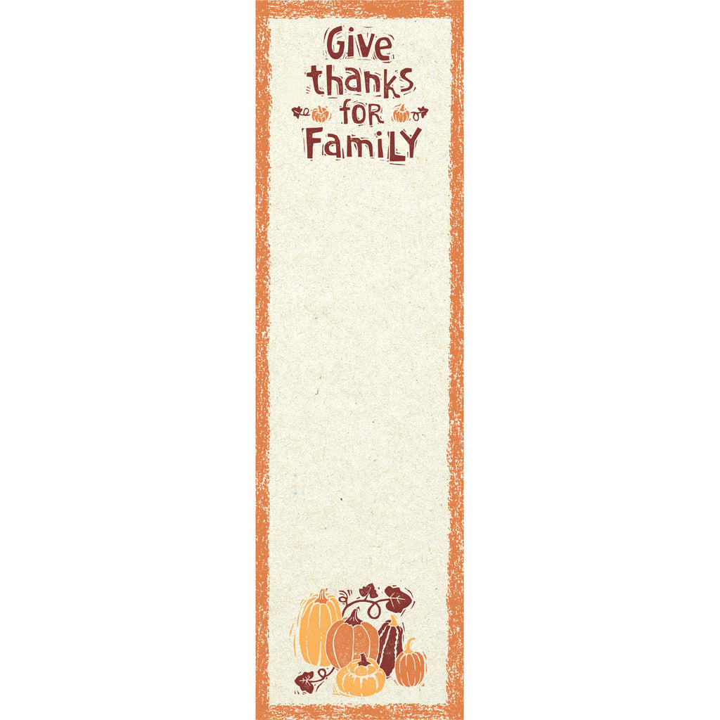Give tHanks for Family Notepad