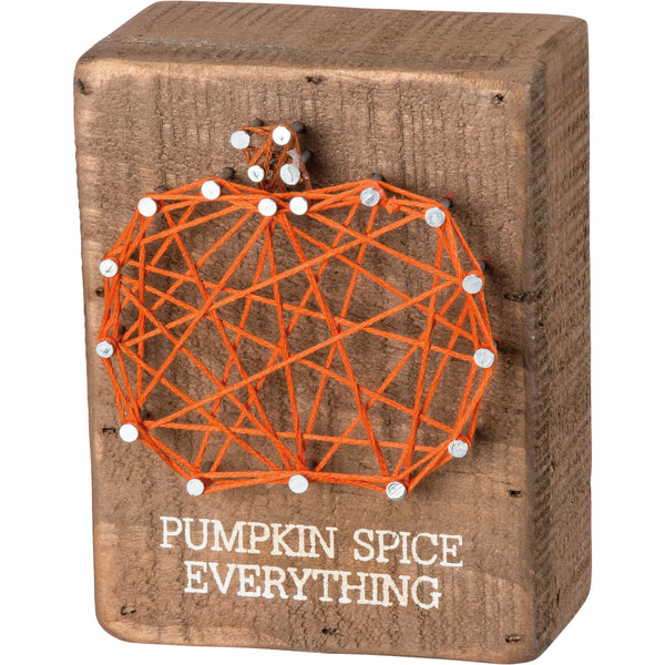 Pumpkin Spice Everything String Art Wood Block
