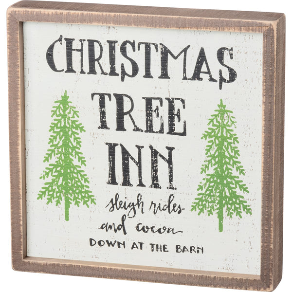 Christmas Tree Inn Framed Box Sign