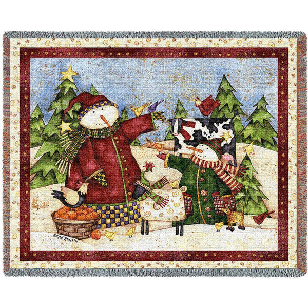 Magic Snowmen Woven Throw