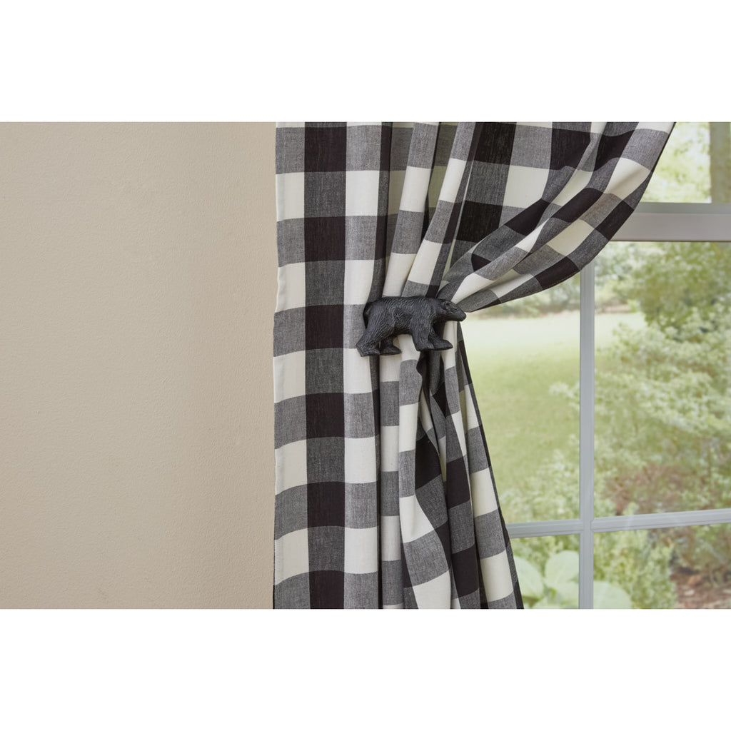 Black Bear Curtain Tie Backs