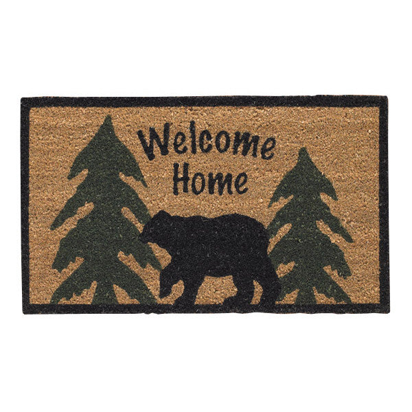 Welcome Home Bear and Trees Doormat