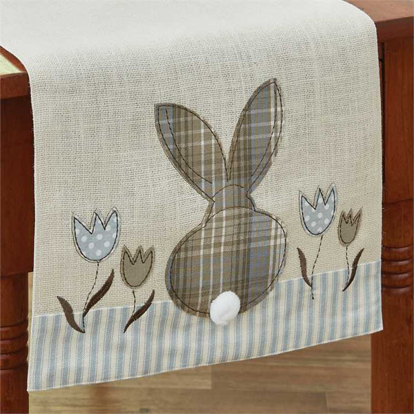 Bunny and Tulip Applique Table Runner