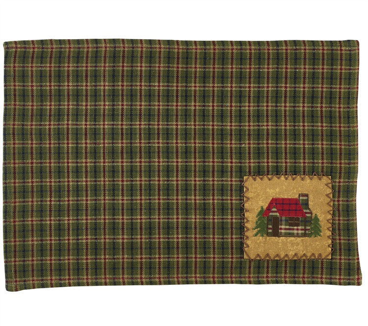 Log Cabin Applique Table Mats
