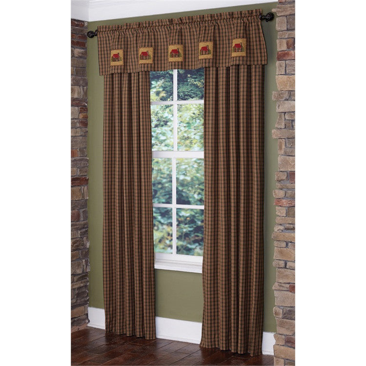 Log Cabin Applique Valance with Matching Panels