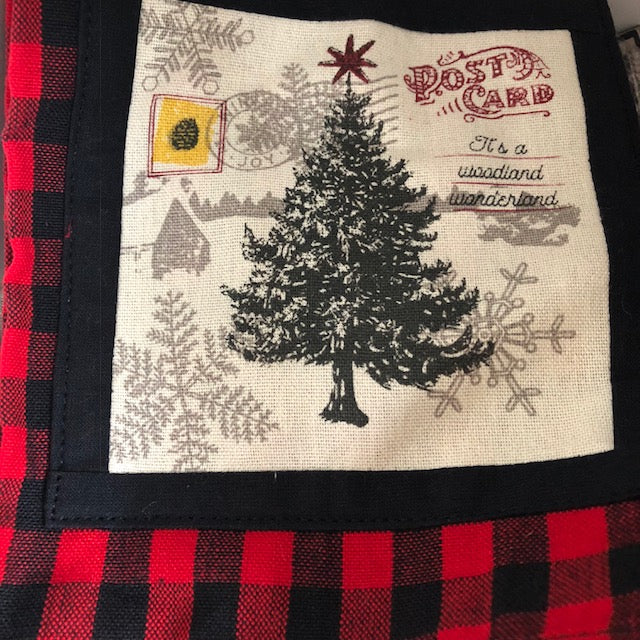 Cabin Check Christmas Tree Towel