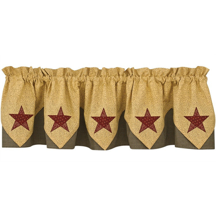 Country Star Lined Point Curtain Valance