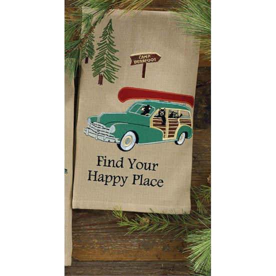 Find your Happy Place Retro Towel