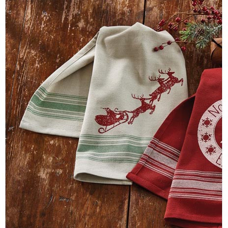 Here Comes Santa Claus Tea Towel
