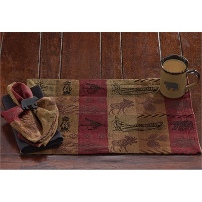 High Country Log Cabin Style Tablemats