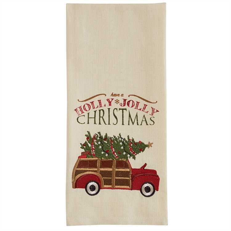 Have a Holly Jolly Christmas Embroidered Towel