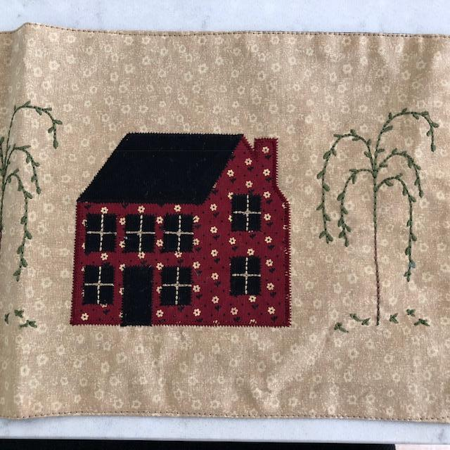 Saltbox House And Willow Tree Accent Mat Shaker Style Decor Uk