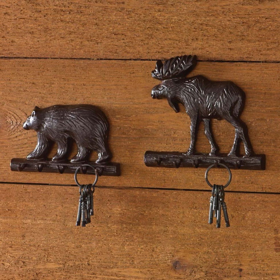 Cast Moose Key Hook