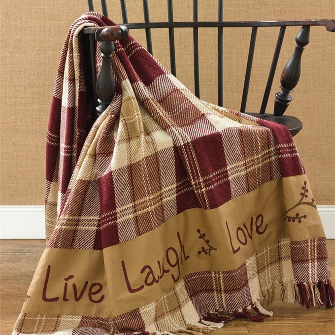 Live Laugh Love Woven Throw