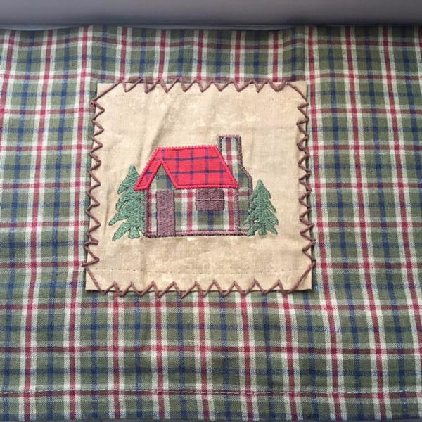 Log Cabin Applique Window Valance UK