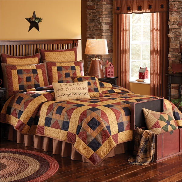 Montclair Patchwork Quilt and Shams Set UK