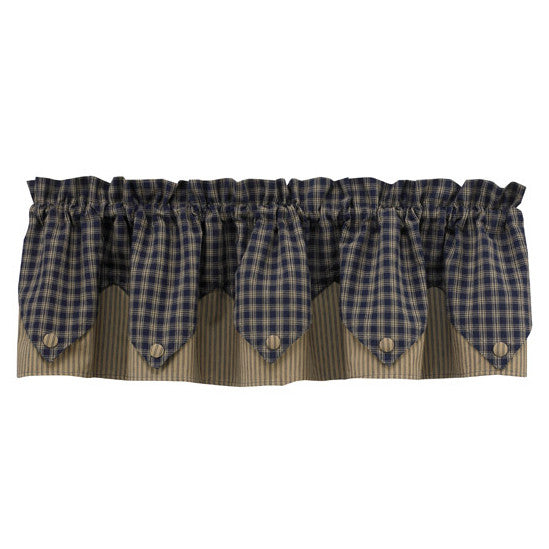 Sturbridge Navy Point Valance