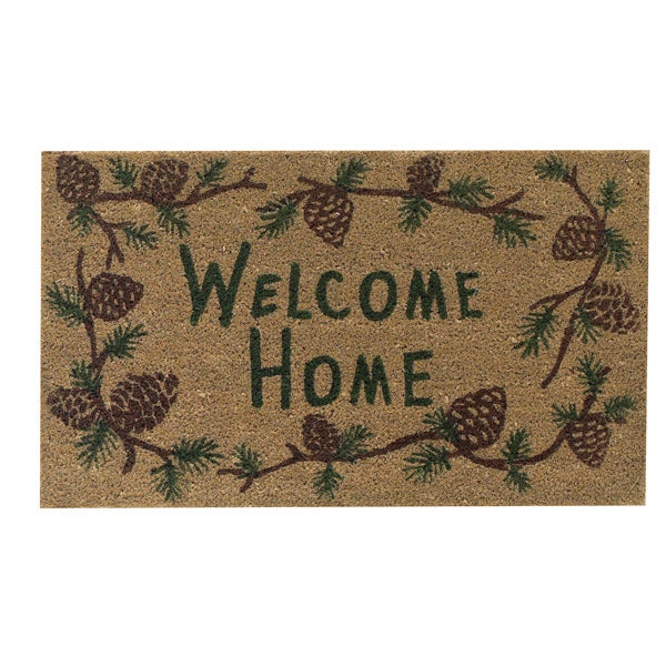 Pine Ridge Doormat with Pinecones