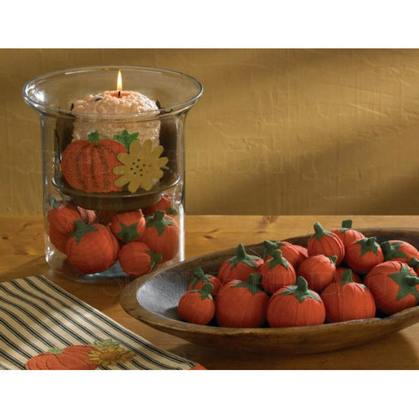 Pumpkin Rag Balls Set of 6 Mini