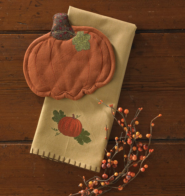 Pumpkin Embroidered Towel