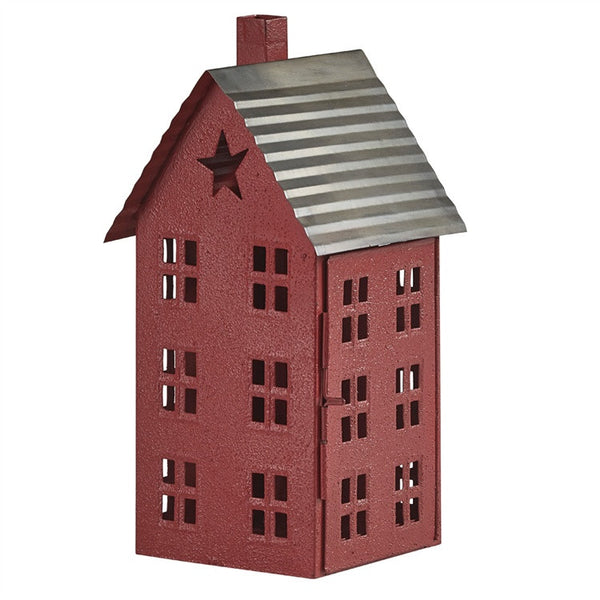 Shaker Style Barn Red House Lantern