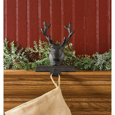 Cast Iron Reindeer Stocking Hanger