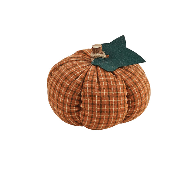 Check Fabric Pumpkin Decoration