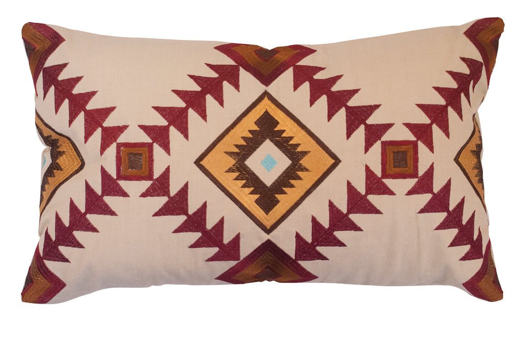 Embroidered Southwestern Cushion