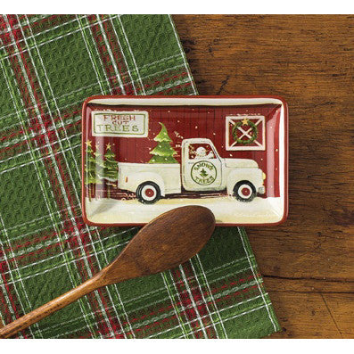Vintage Christmas Truck Spoon Rest