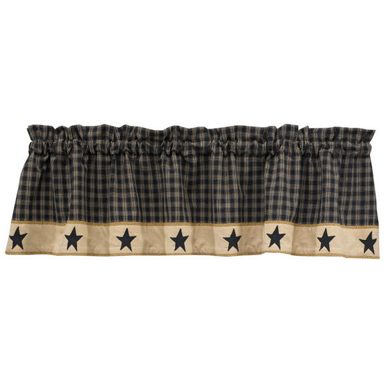Sturbridge Stars Lined Window Valance