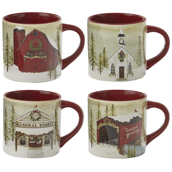 Vintage Hometown Christmas Mugs in the UK
