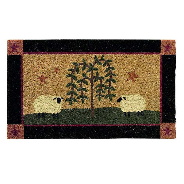 Sheep and Willow Tree Doormat