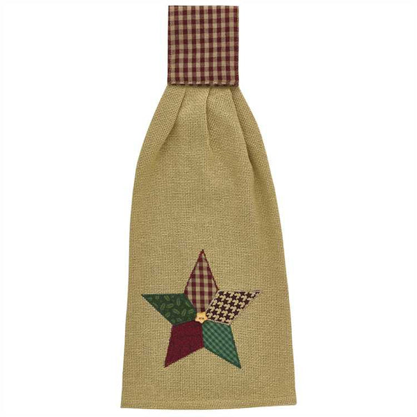 Christmas Star Applique Hand Towel