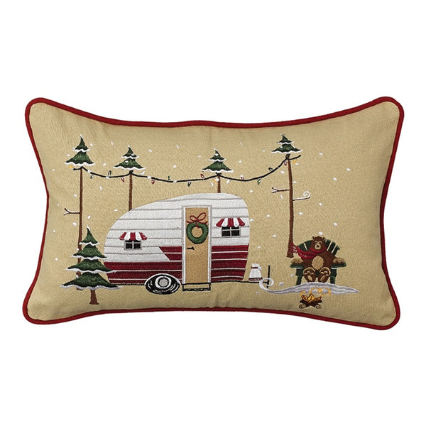 Christmas Vacation Embroidered Cushion