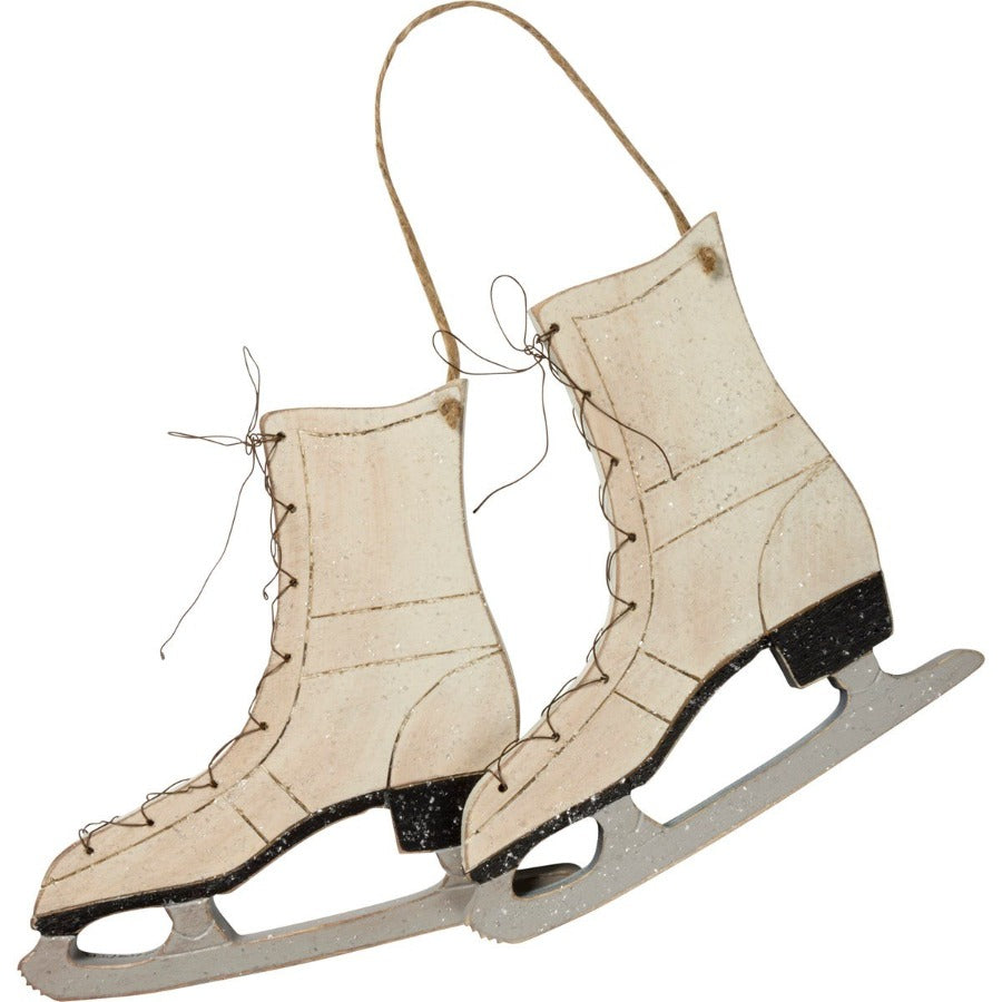 Wooden Ice Skates Decoration