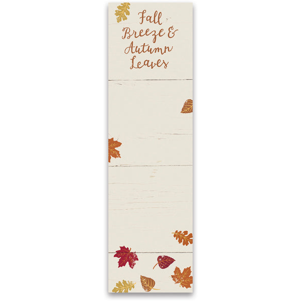 Fall Breeze and Autumn Leaves Magnetic Notepad