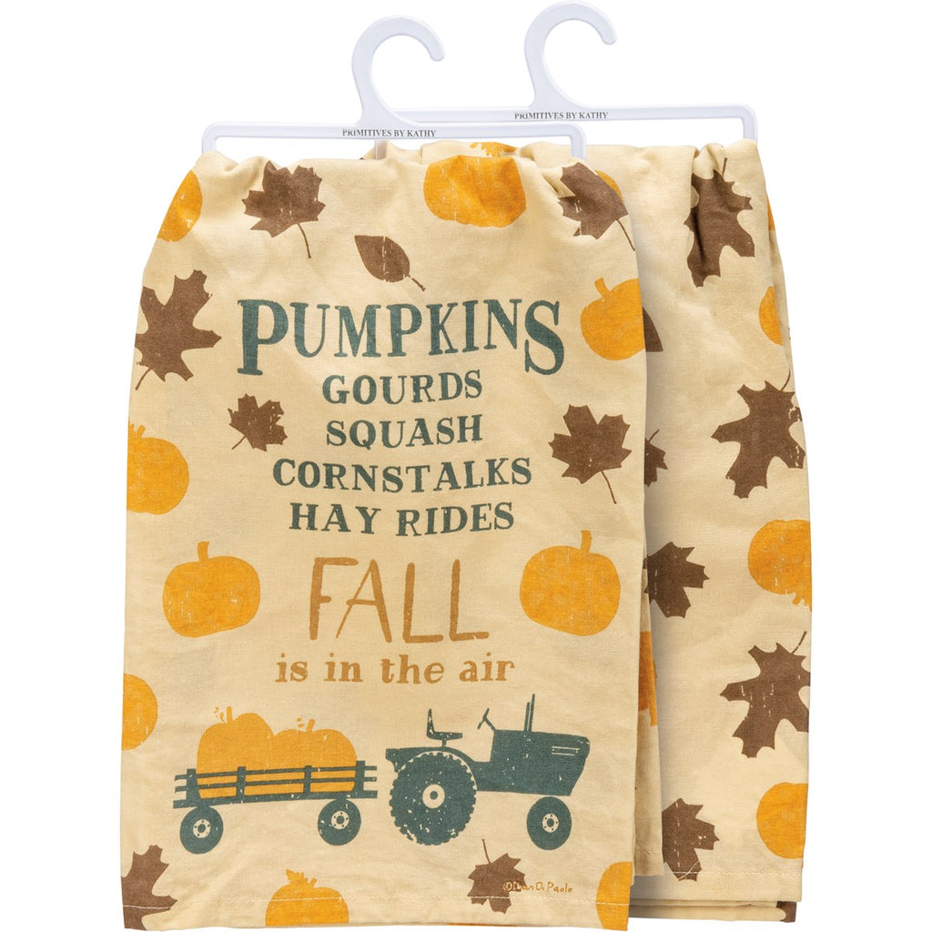Pumpkins Gourds Fall is in the Air Towel UK