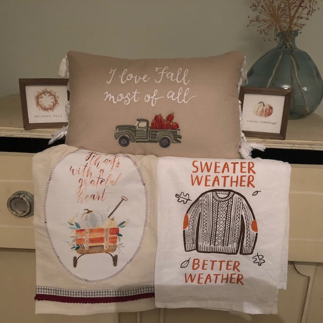 Sweater Weather Fall Towel