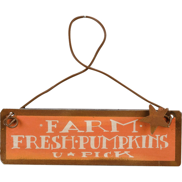 Mini Farm Fresh Pumpkins U Pick Sign